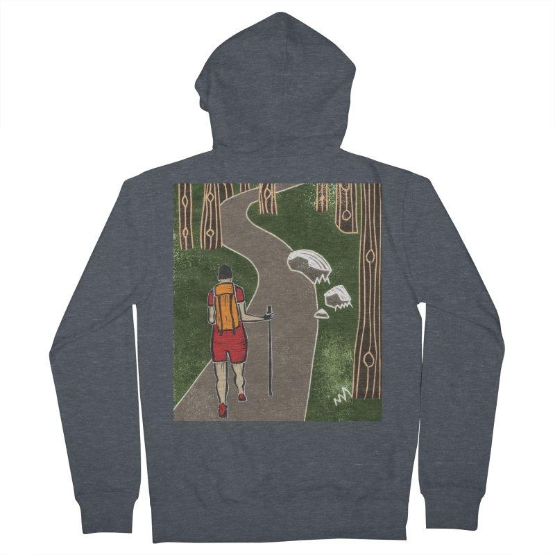 Hiker Men's French Terry Zip-Up Hoody by erintaniguchi's Artist Shop