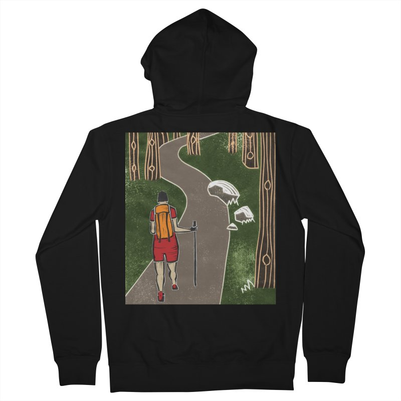 Hiker Men's French Terry Zip-Up Hoody by erintaniguchi's Artist Shop