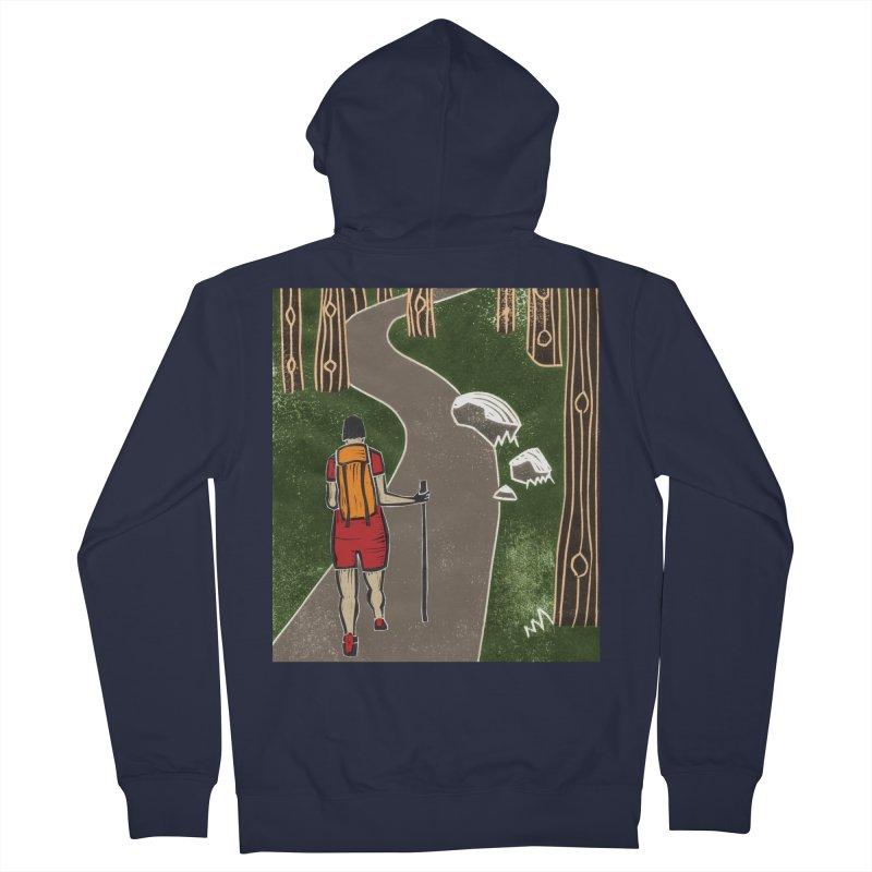 Hiker Men's Zip-Up Hoody by erintaniguchi's Artist Shop