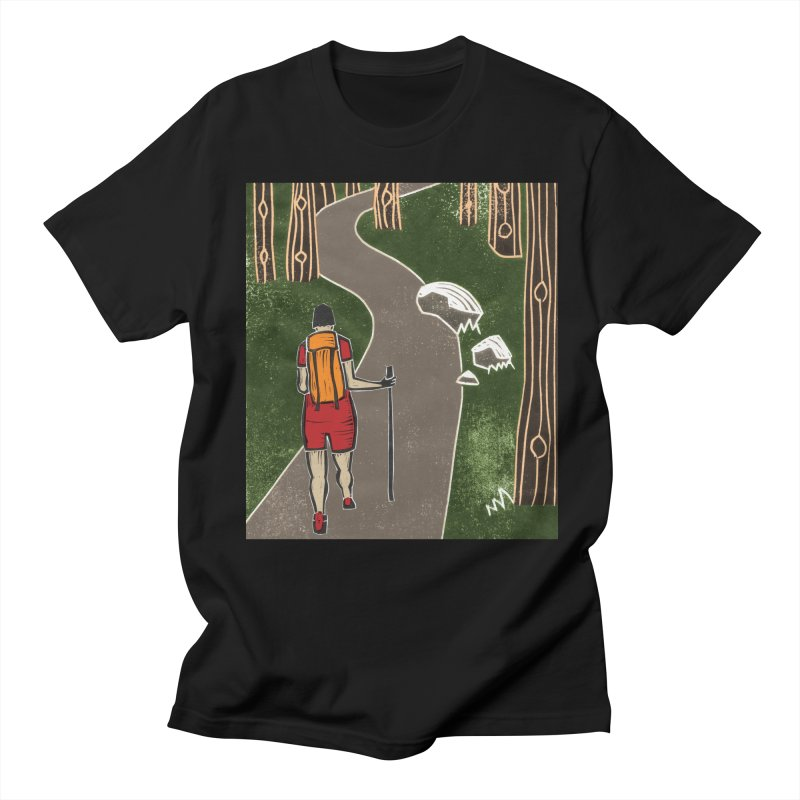 Hiker Men's Regular T-Shirt by erintaniguchi's Artist Shop