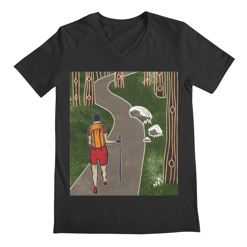Hiker Men's V-Neck by erintaniguchi's Artist Shop