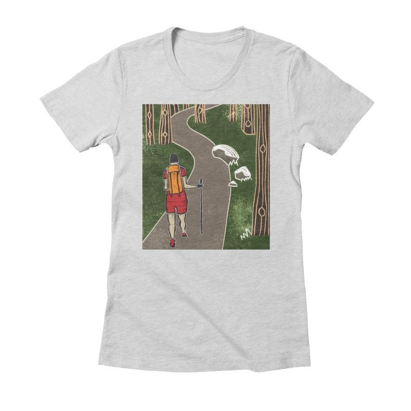 Hiker Women's Fitted T-Shirt by erintaniguchi's Artist Shop