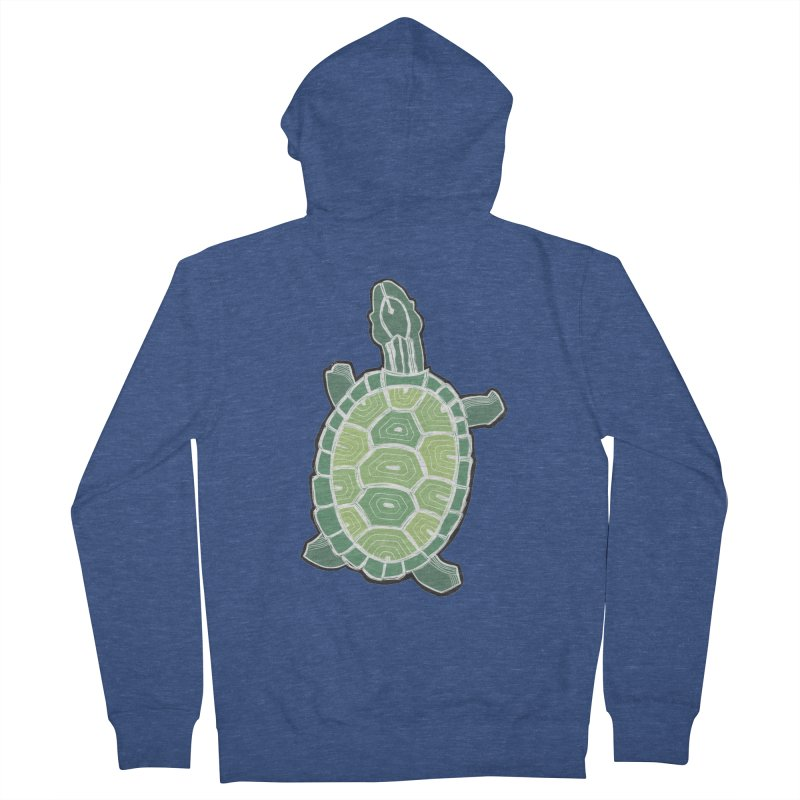 Turtle Women's French Terry Zip-Up Hoody by erintaniguchi's Artist Shop