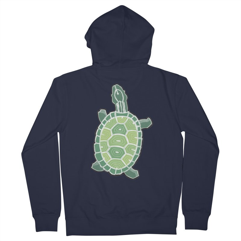 Turtle Women's French Terry Zip-Up Hoody by erintaniguchi's Artist Shop