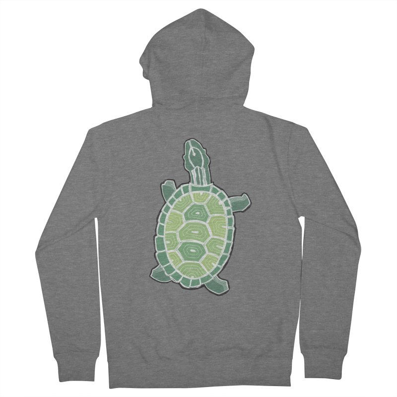 Turtle Men's French Terry Zip-Up Hoody by erintaniguchi's Artist Shop