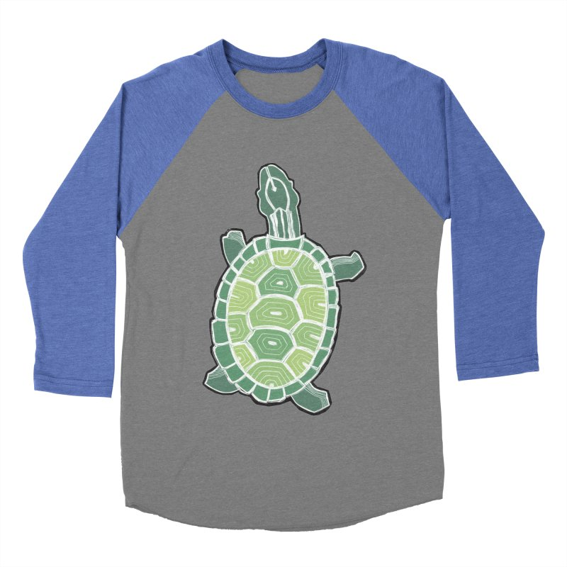 Turtle Men's Baseball Triblend Longsleeve T-Shirt by erintaniguchi's Artist Shop