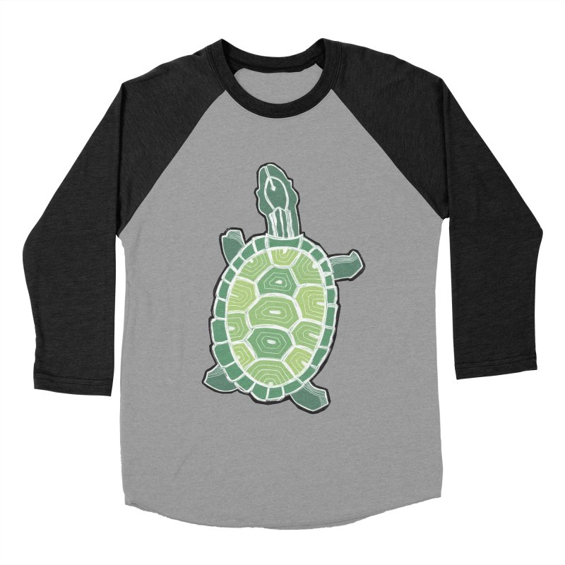 Turtle Men's Baseball Triblend Longsleeve T-Shirt by erintaniguchi's Artist Shop