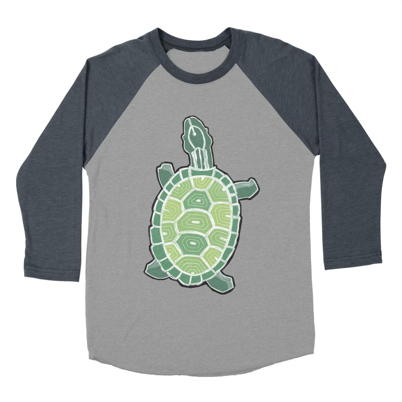 Turtle Men's Baseball Triblend T-Shirt by erintaniguchi's Artist Shop