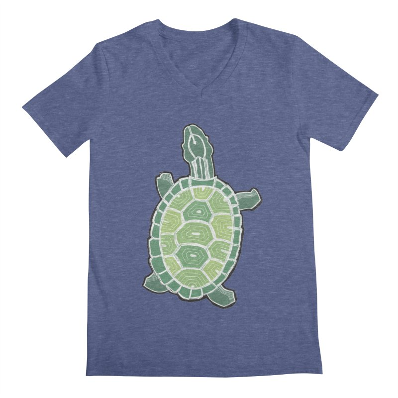 Turtle Men's V-Neck by erintaniguchi's Artist Shop