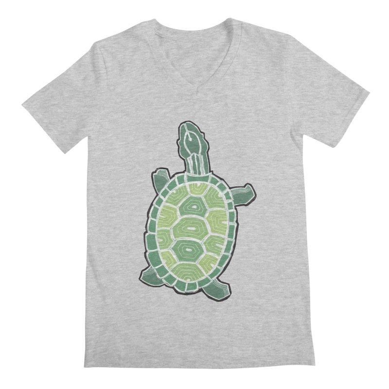 Turtle Men's Regular V-Neck by erintaniguchi's Artist Shop