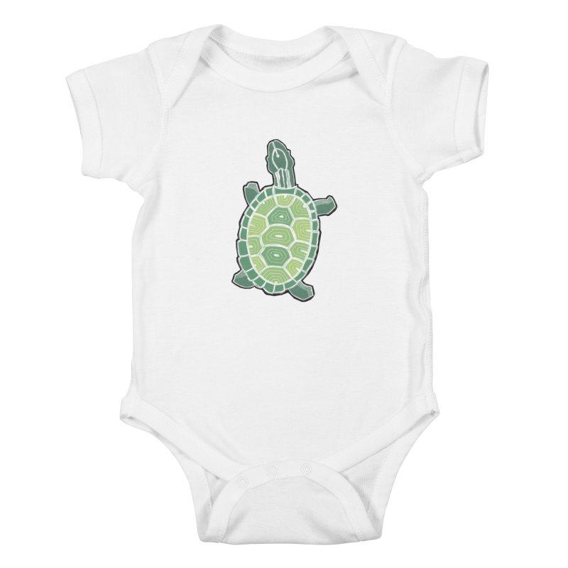 Turtle Kids Baby Bodysuit by erintaniguchi's Artist Shop