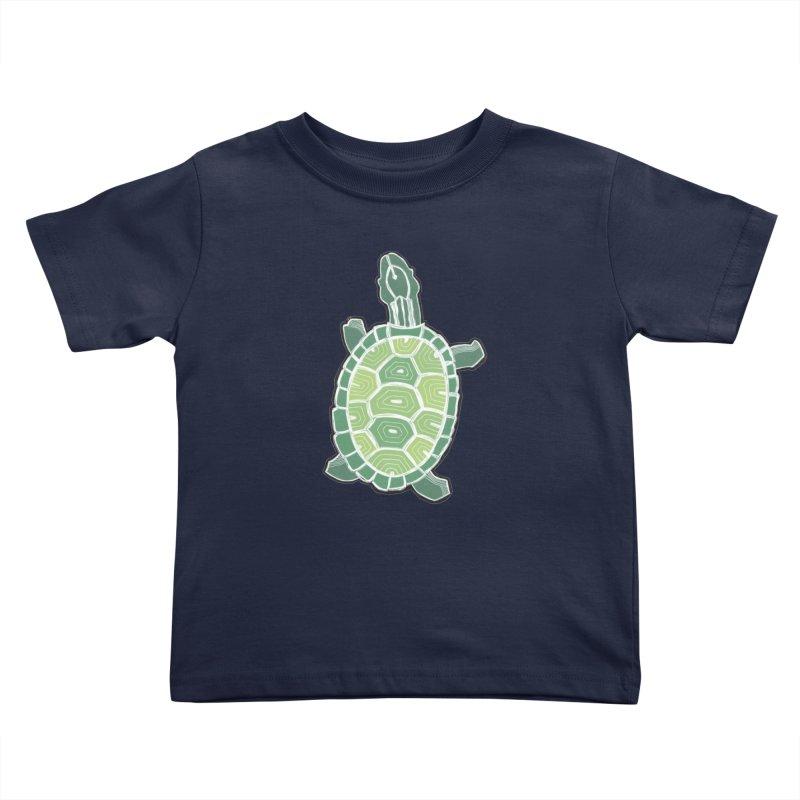 Turtle Kids Toddler T-Shirt by erintaniguchi's Artist Shop