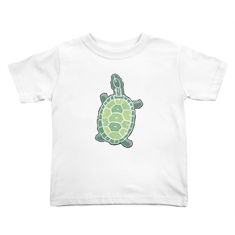 Turtle Kids Toddler T-Shirt by erintaniguchi's Artist Shop