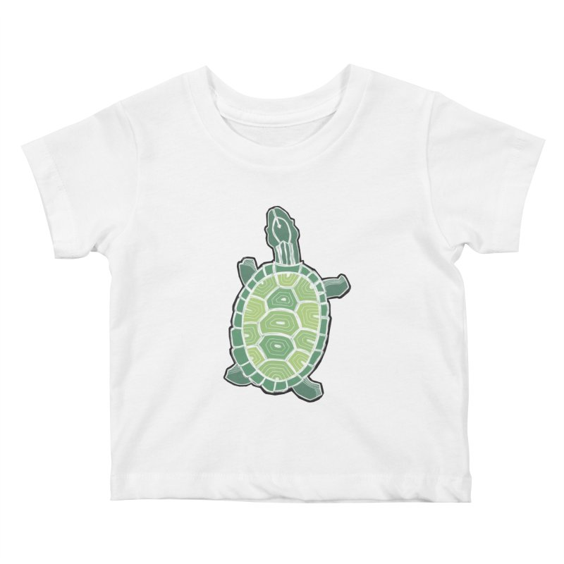 Turtle Kids Baby T-Shirt by erintaniguchi's Artist Shop
