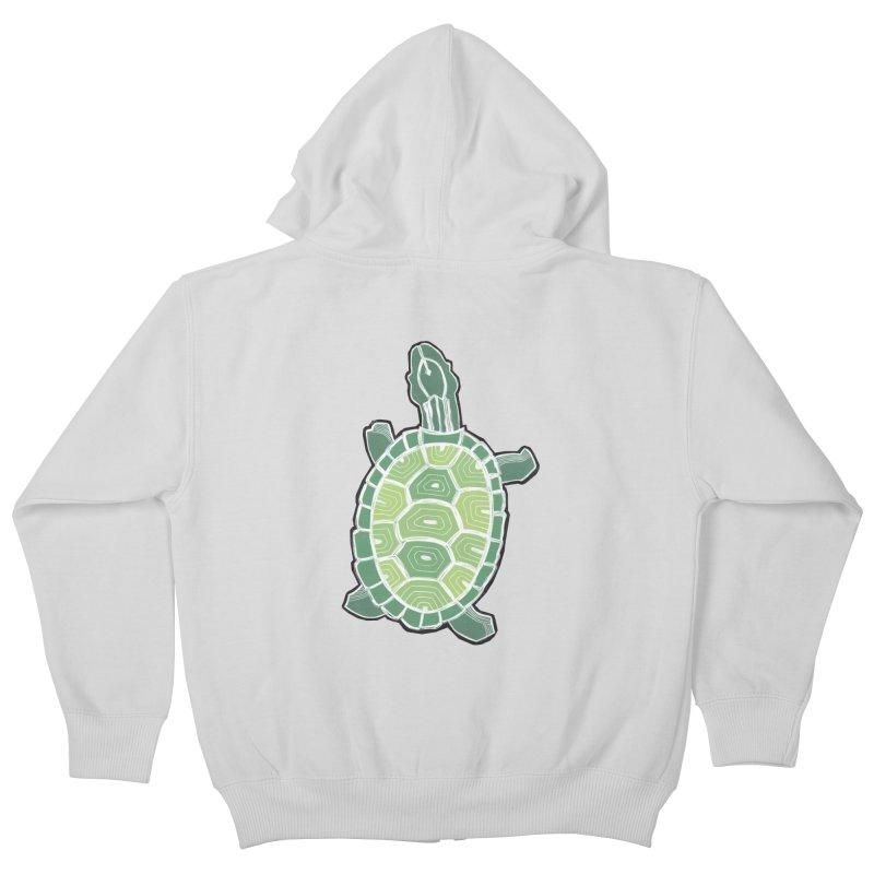 Turtle Kids Zip-Up Hoody by erintaniguchi's Artist Shop