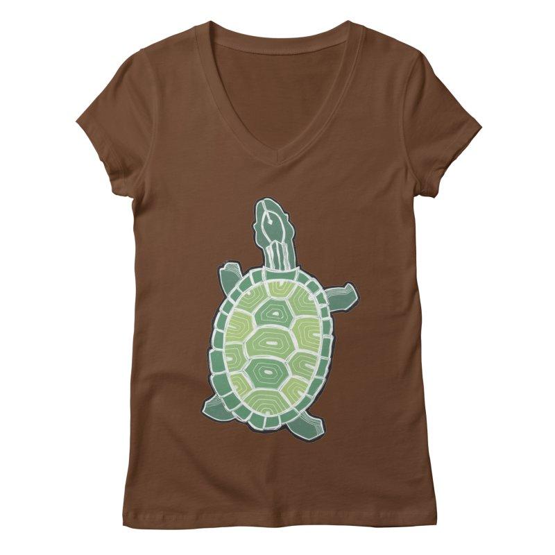 Turtle Women's Regular V-Neck by erintaniguchi's Artist Shop