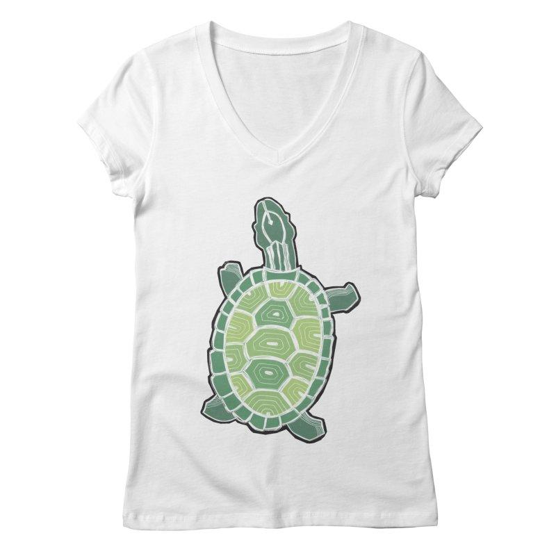 Turtle Women's V-Neck by erintaniguchi's Artist Shop