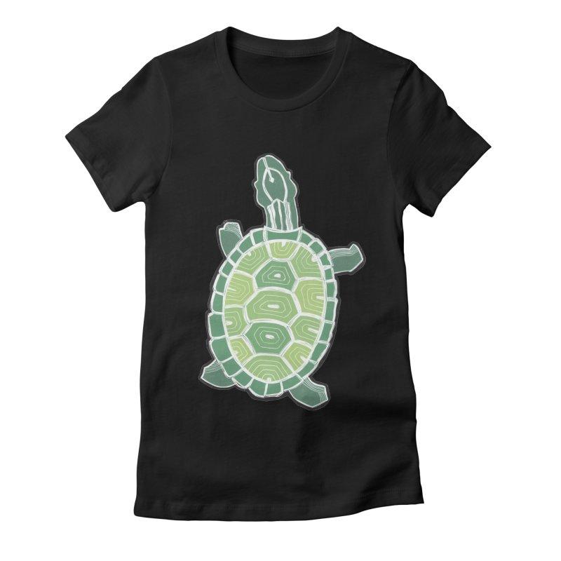 Turtle Women's Fitted T-Shirt by erintaniguchi's Artist Shop