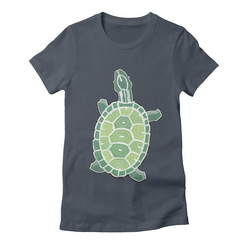 Turtle Women's Fitted T-Shirt by erintaniguchi's Artist Shop