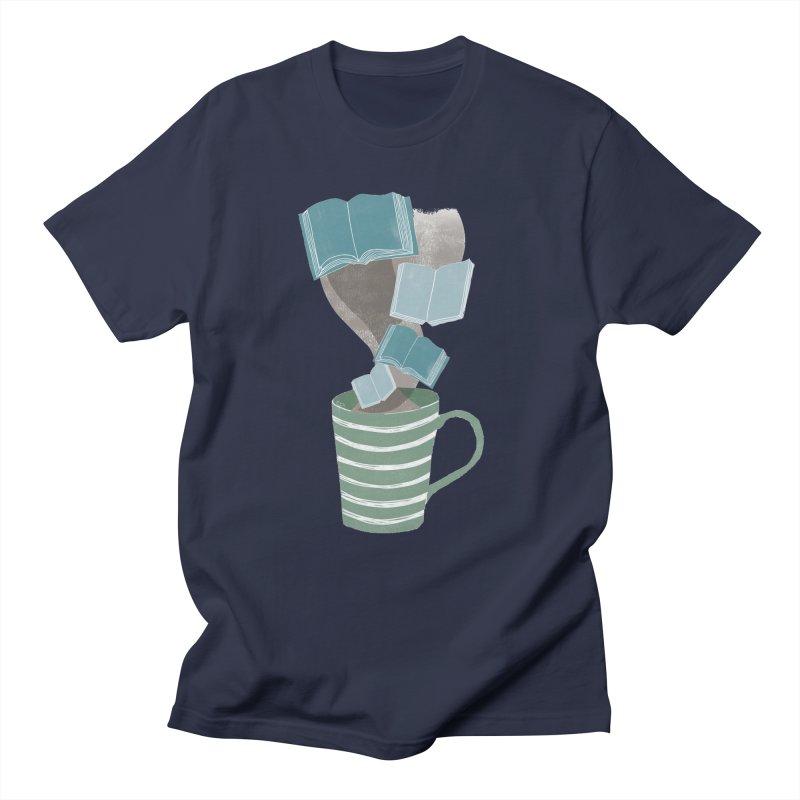 Winter Reading Men's T-shirt by erintaniguchi's Artist Shop