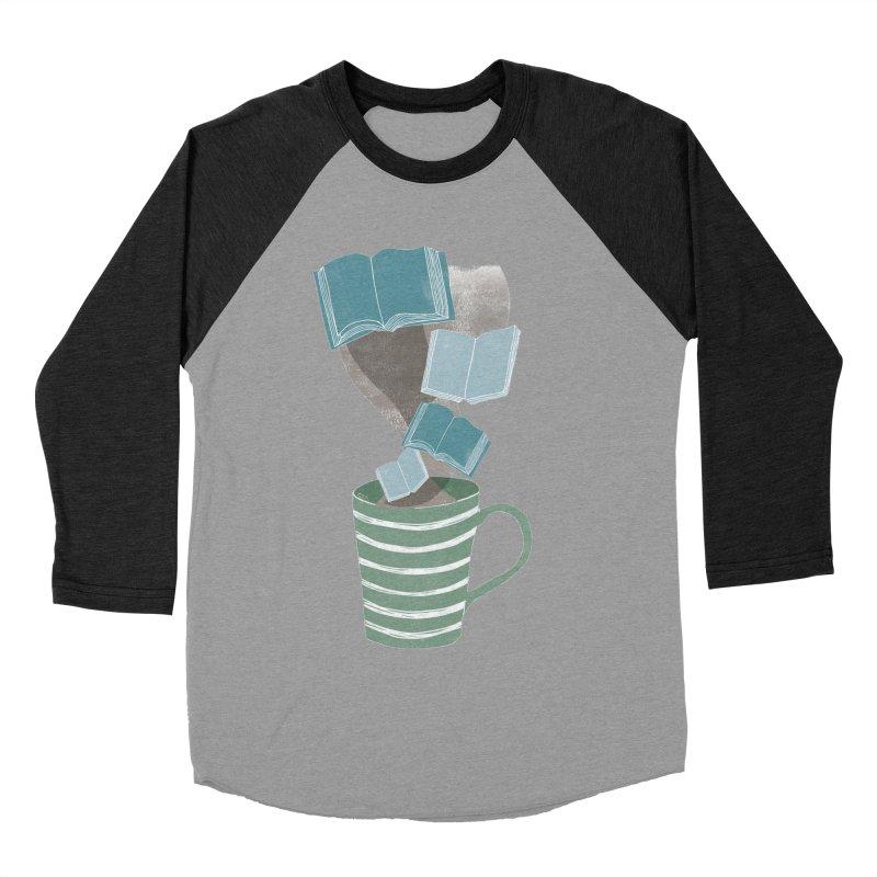 Winter Reading Women's Baseball Triblend T-Shirt by erintaniguchi's Artist Shop