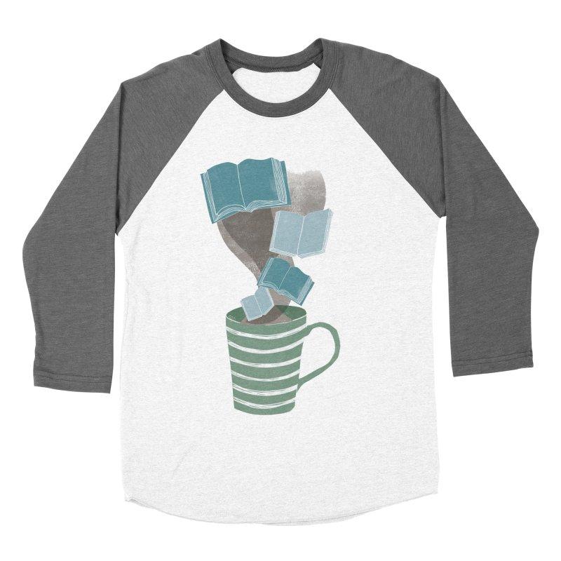 Winter Reading Men's Baseball Triblend T-Shirt by erintaniguchi's Artist Shop