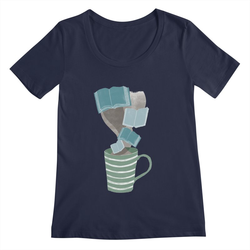 Winter Reading Women's Scoopneck by erintaniguchi's Artist Shop