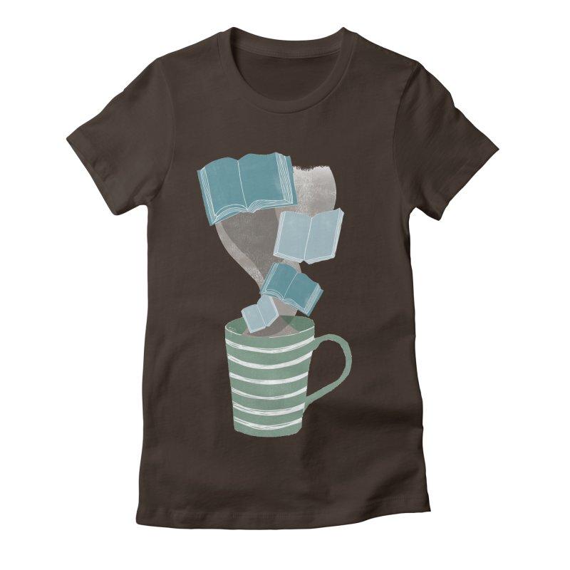 Winter Reading Women's Fitted T-Shirt by erintaniguchi's Artist Shop