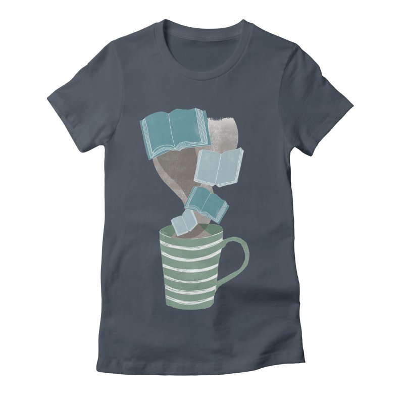 Winter Reading Women's Fitted T-Shirt by erintaniguchi's Artist Shop