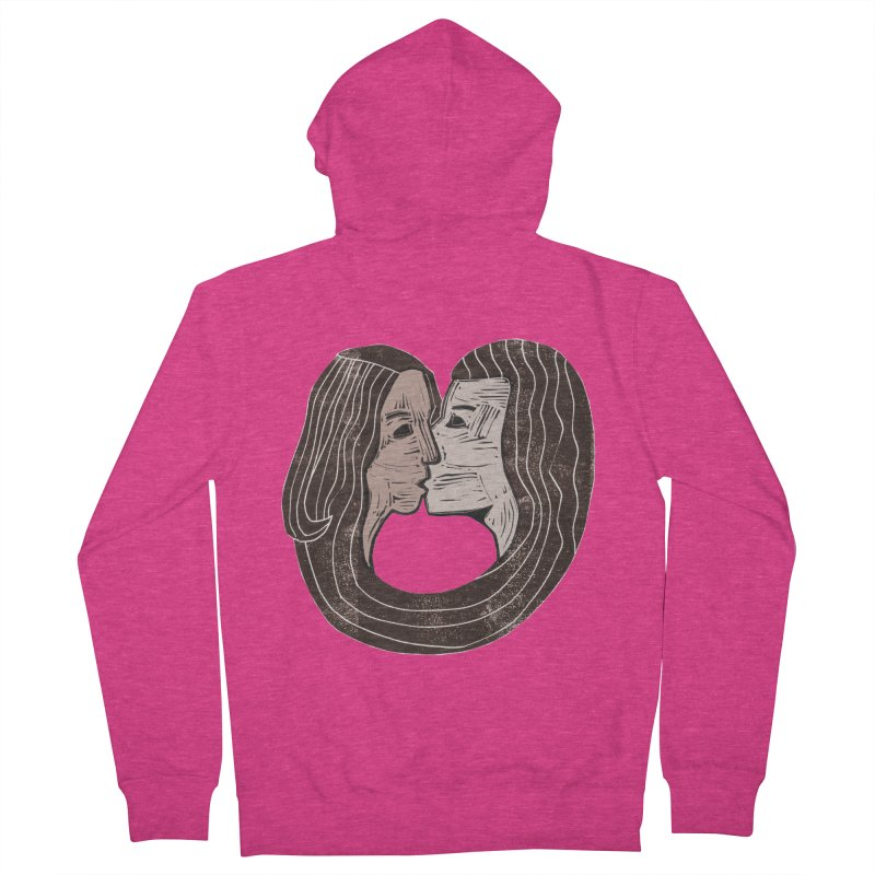 The Lovers Women's French Terry Zip-Up Hoody by erintaniguchi's Artist Shop