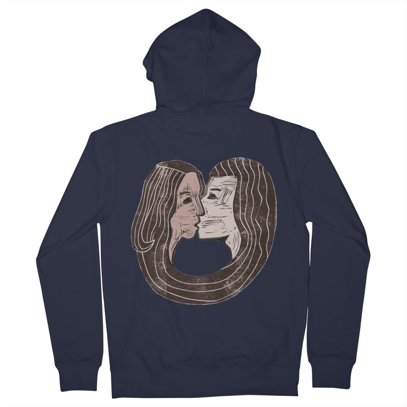 The Lovers Men's French Terry Zip-Up Hoody by erintaniguchi's Artist Shop