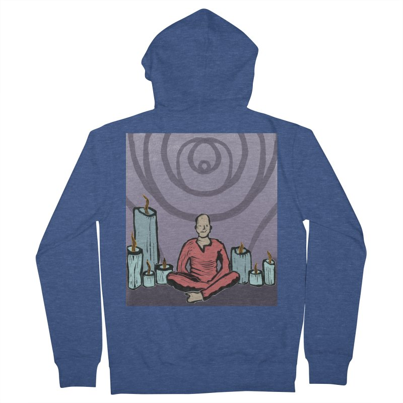 The Hermit Men's French Terry Zip-Up Hoody by erintaniguchi's Artist Shop