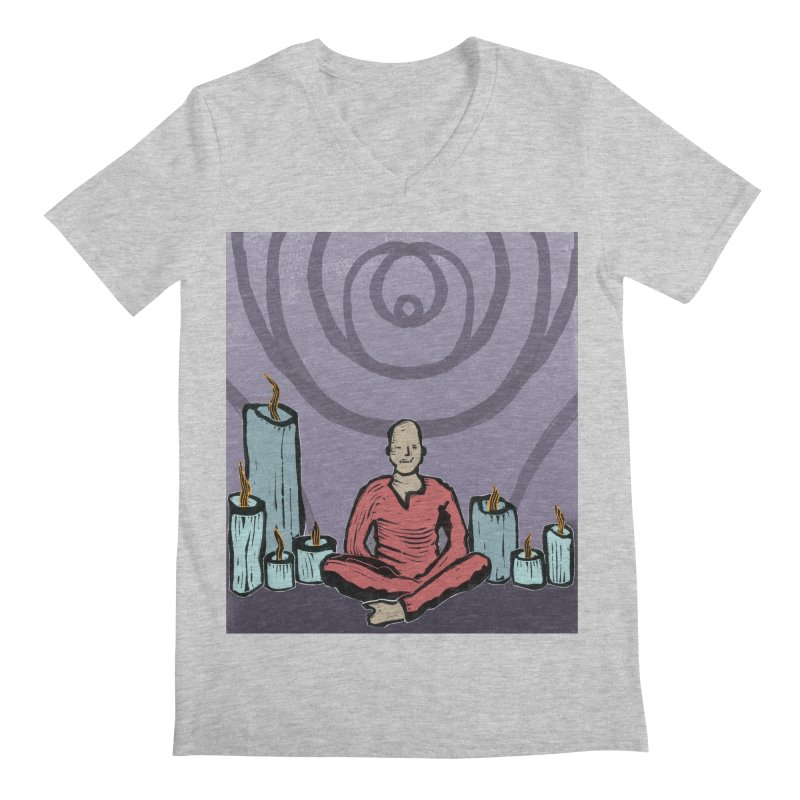 The Hermit Men's V-Neck by erintaniguchi's Artist Shop