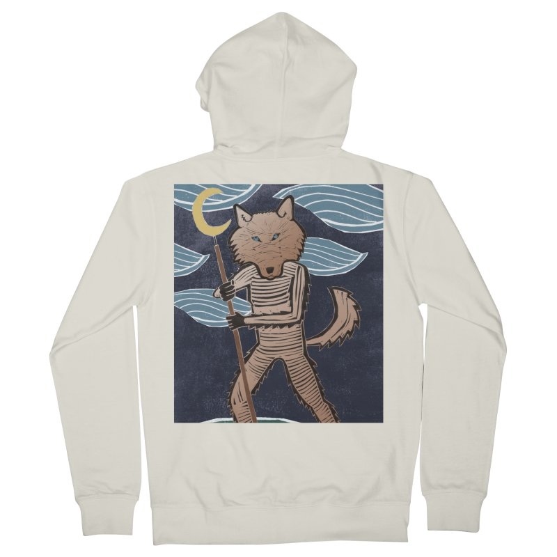 The Moon Men's Zip-Up Hoody by erintaniguchi's Artist Shop