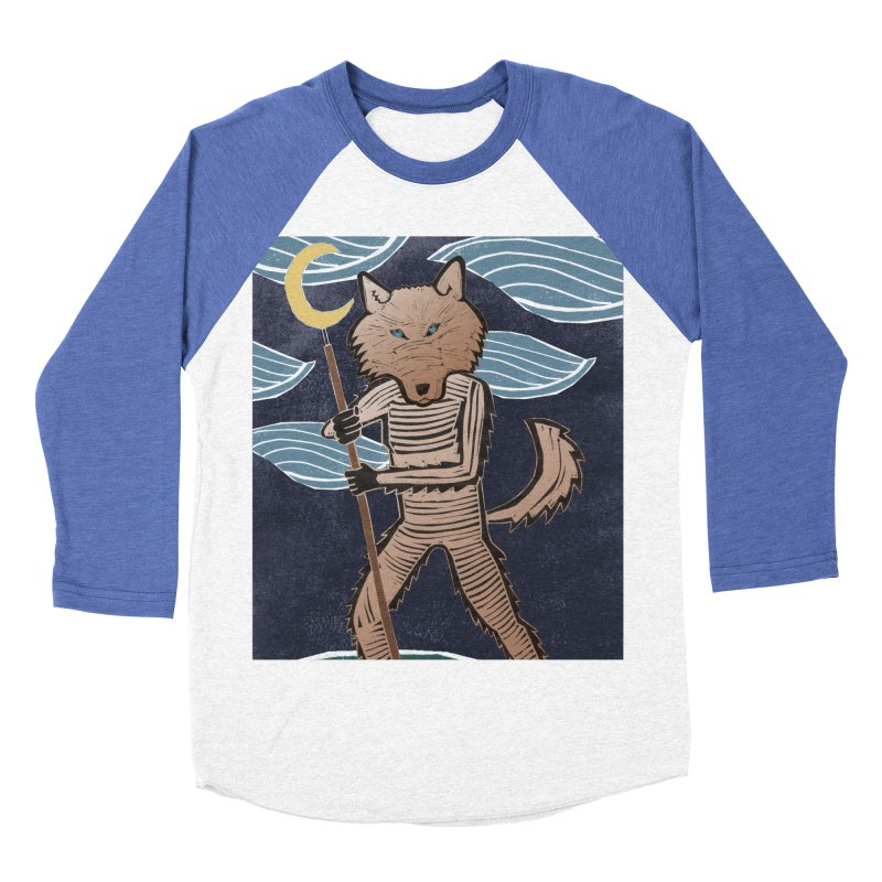 The Moon Women's Baseball Triblend Longsleeve T-Shirt by erintaniguchi's Artist Shop