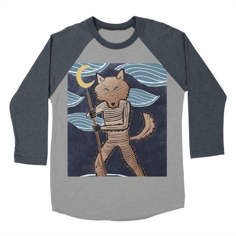 The Moon Women's Baseball Triblend T-Shirt by erintaniguchi's Artist Shop