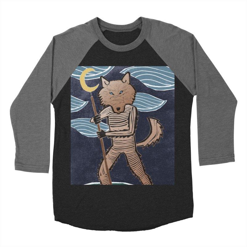 The Moon Men's Baseball Triblend Longsleeve T-Shirt by erintaniguchi's Artist Shop