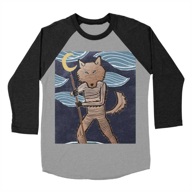 The Moon Men's Baseball Triblend Longsleeve T-Shirt by erintaniguchi's Artist Shop