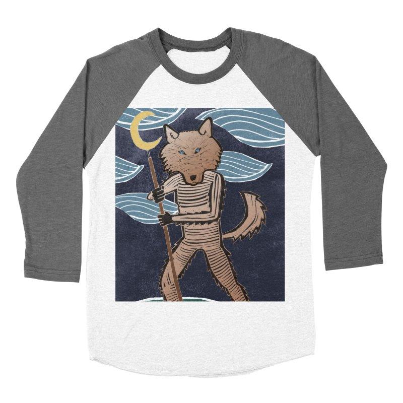 The Moon Men's Baseball Triblend T-Shirt by erintaniguchi's Artist Shop