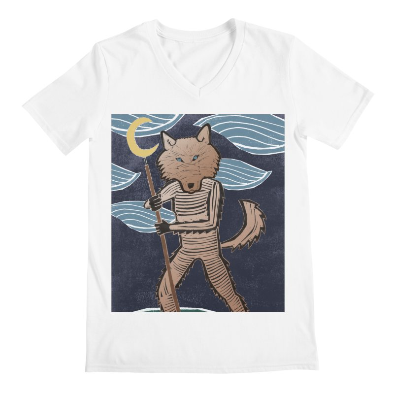 The Moon Men's V-Neck by erintaniguchi's Artist Shop