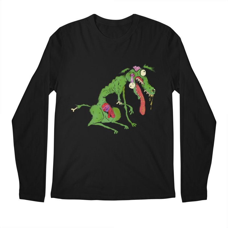 Zombie Dog Men's Longsleeve T-Shirt by Ermina Takenova
