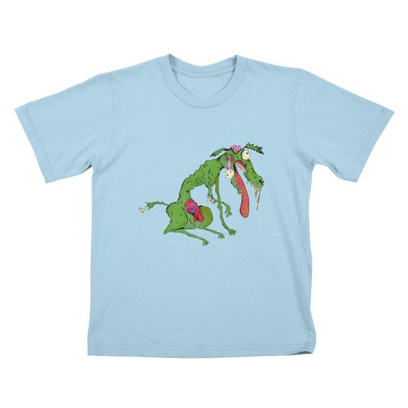 Zombie Dog Kids T-shirt by Ermina Takenova