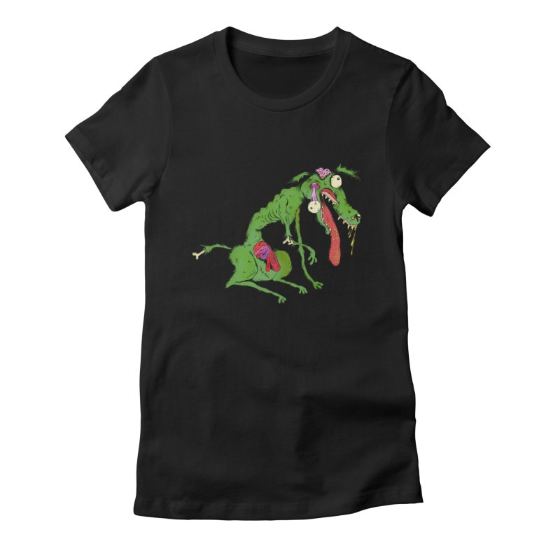 Zombie Dog Women's Fitted T-Shirt by Ermina Takenova