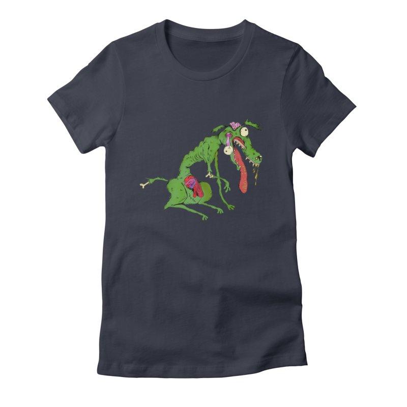 Zombie Dog Women's Fitted T-Shirt by Ermina Takenova