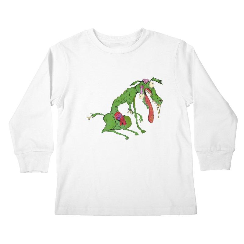 Zombie Dog Kids Longsleeve T-Shirt by Ermina Takenova