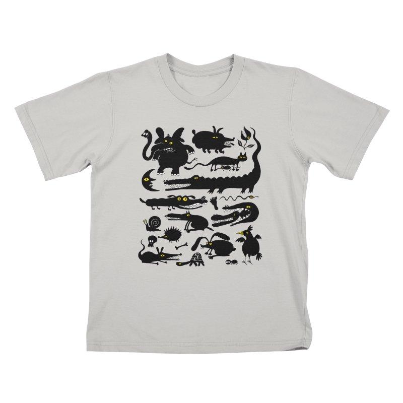 Creatures I Kids T-Shirt by Ermina Takenova