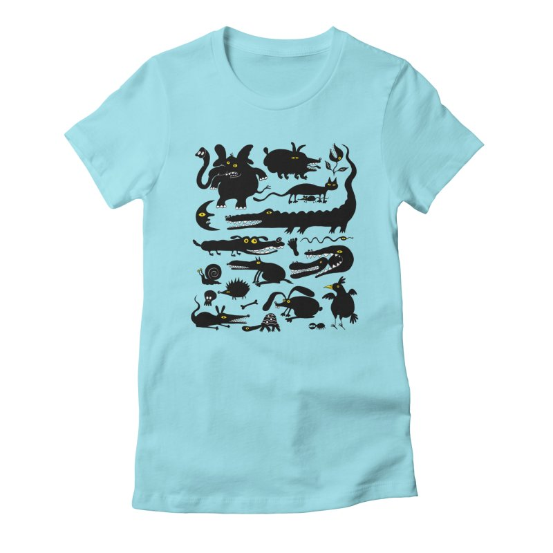 Creatures I Women's Fitted T-Shirt by Ermina Takenova