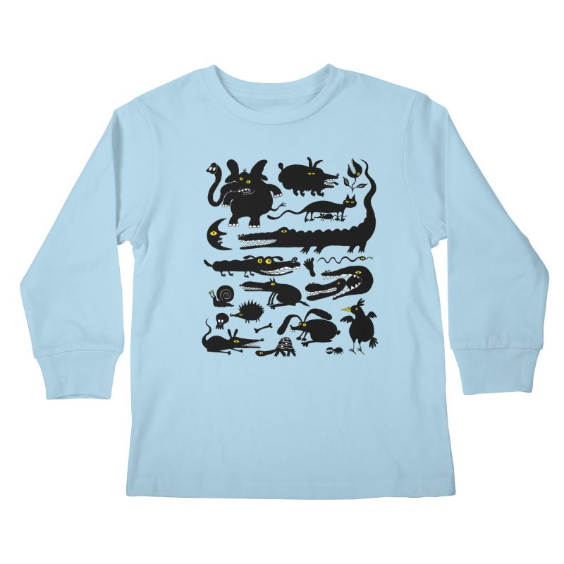 Creatures I Kids Longsleeve T-Shirt by Ermina Takenova