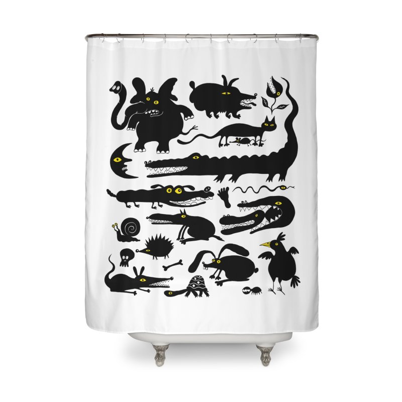 Creatures I Home Shower Curtain by Ermina Takenova