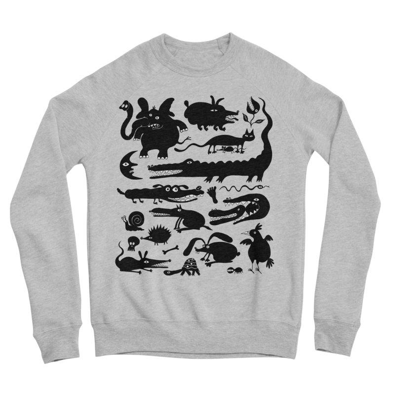 Creatures II Women's Sponge Fleece Sweatshirt by Ermina Takenova